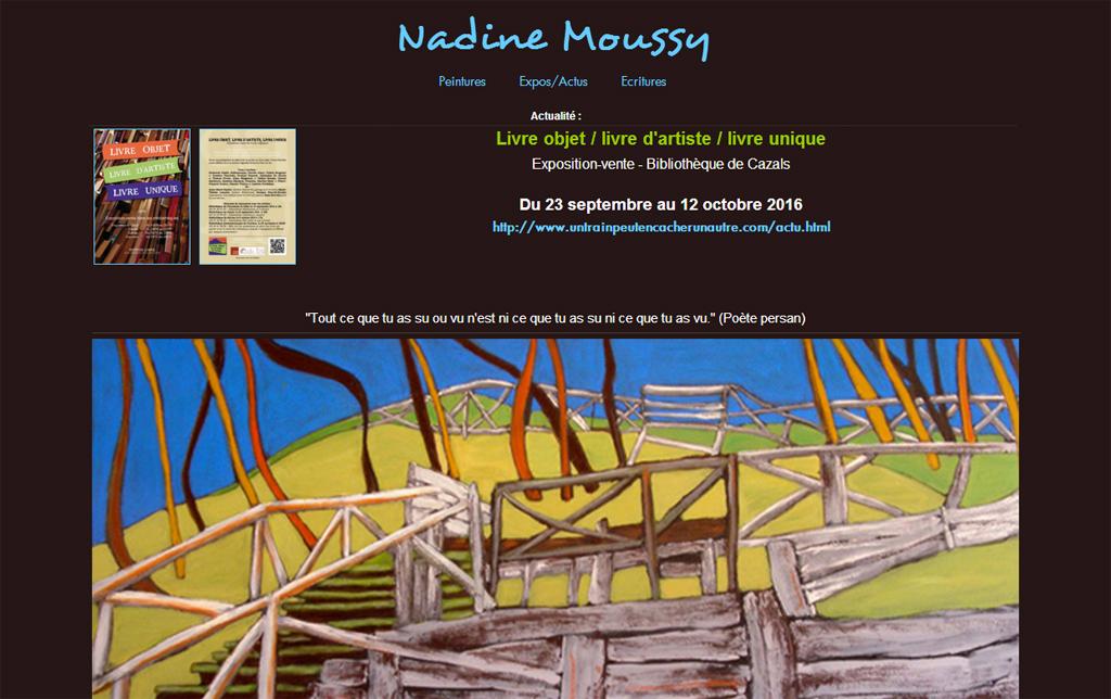 Site internet - Nadine Moussy